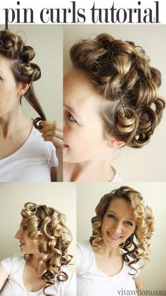 1000 ideas about pin curls on pinterest victory rolls vintage hair and curls