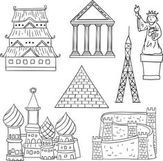 St Basil's Cathedral Coloring Page Art from Thaneeya