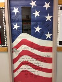 Veterans Day hallway decoration: oh my gosh.... the ...