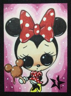 Mickey And Minnie Mouse Drawing Kelsey Engles  Art By