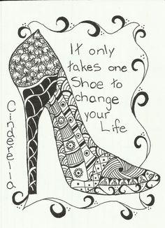 Shoe doodle (.....cr....oldest granddaughter loves shoes