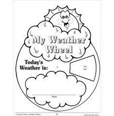 The weather wheel in this free, printable daily weather