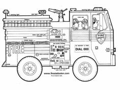 Coloring pages, Coloring and Firemen on Pinterest