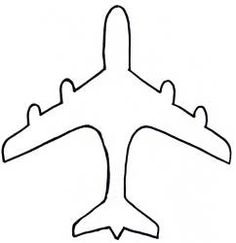 Airplane pattern. Use the printable outline for crafts