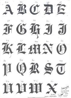 1000+ ideas about Gothic Alphabet on Pinterest