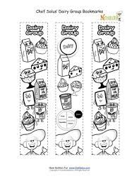 Children's coloring activity that promotes the food groups