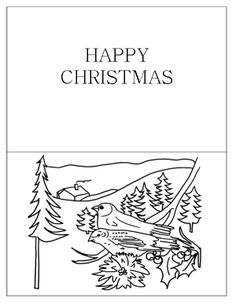 1000+ images about Christmas Cards Coloring Page on