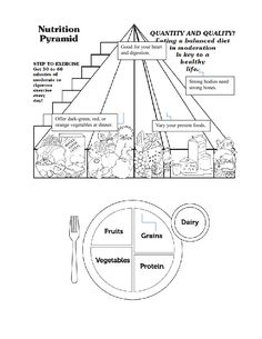 This simple food worksheet is perfect for any food or