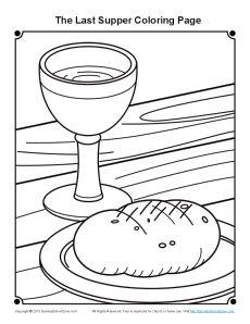 Lesson 10: preschool craft the last supper communion