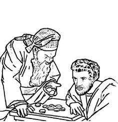 A spy Wednesday craft- Judas's money pouch for the money