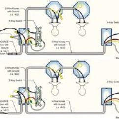 Led Light Circuit Diagram For Dummies Medieval Keep Castle Two Lights Between 3 Way Switches With The Power Feed Via One Of | Details ...