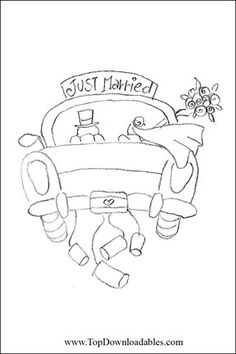 Just married car ~ Cre8tive Hands Repinned by