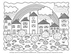 Such a happy tree! Blossom tree colouring page http://www