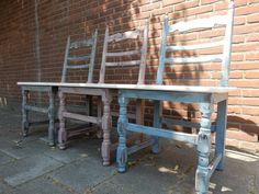 Brocant stoelenbankj