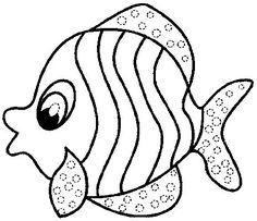 Rainbow fish template, Fish template and Rainbow fish on