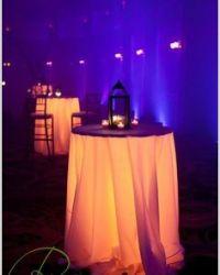 pink cocktail table under lighting *WHITE LINENS - MULTI ...