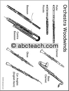 This website has free coloring pages for flute, piano