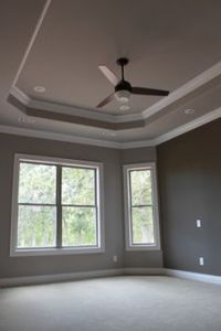 painted tray ceiling with crown molding   tray ceiling ...