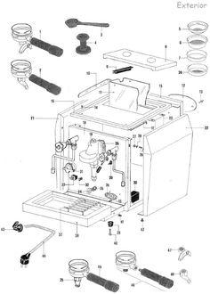 Saeco Incanto RondoEasyClassicSirius  Parts Diagram