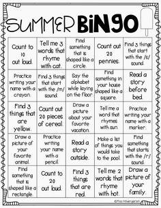 Summer Reading Bingo Challenge for Kids (Free Printables