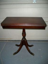Vintage Duncan Phyfe Mahogany Fold Top Console Game Table