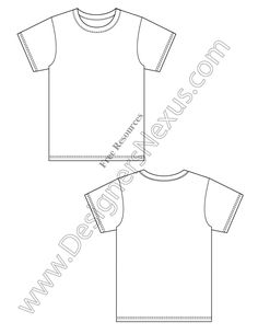 Front & Back Poses Female Croqui Fashion Sketch Template