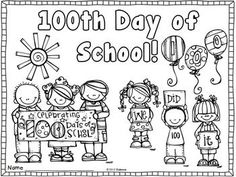It's the 100th Day of School! FREEBIE template you can use