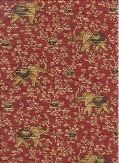 2295yd P Kaufmann UZBEK TAPESTRY A whimsical animal