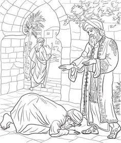Matthew 22:1-14; Parable of the Wedding Feast Coloring