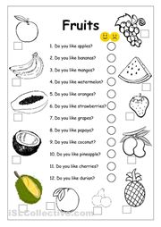 Worksheets, The fruit and Free printable on Pinterest