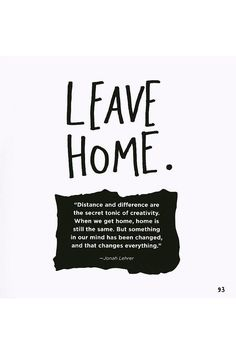 Leaving Home Quotes on Pinterest