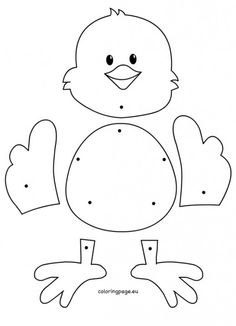 Check out this adorable bunny cut-out for Easter! Make