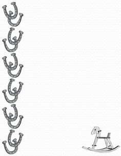 Horse page border featuring a horse on the bottom with a