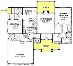 Bungalow Contemporary House Plan 64918 2! House And Level