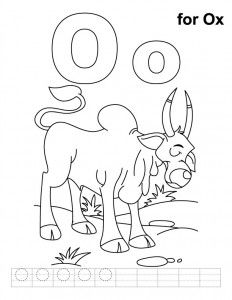 letter o coloring pages printable for kids, O for octopus