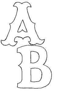 Letter C pattern. Use the printable outline for crafts