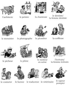 1000+ images about FLE Lexique des Métiers on Pinterest