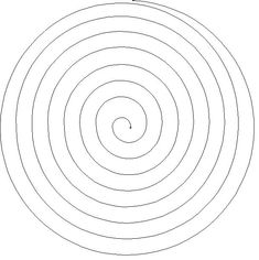 Spiral pattern. Use the printable outline for crafts