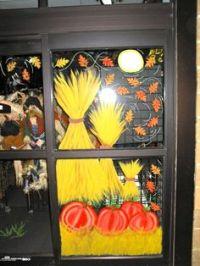 Autumn/Halloween window design | Window Painting Art ...