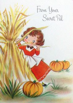 Vintage Thanksgiving Wishes From Your Secret Pal #vintage