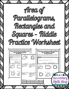 Finding Area of Parallelograms and Triangles Coloring