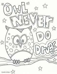 Just Say No To Drugs Coloring Pages Coloring Pages