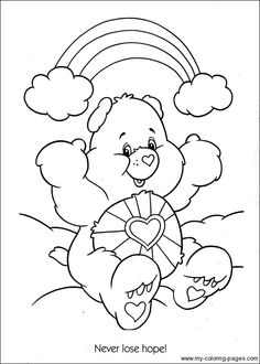 Care bears, Coloring pages and Baby care on Pinterest