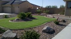 grass yard front landscape