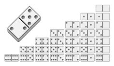 These printable standard dominoes have a total of 28 tiles
