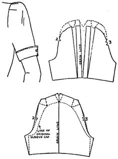 Armhole diameter in the pattern (an interesting cut-away