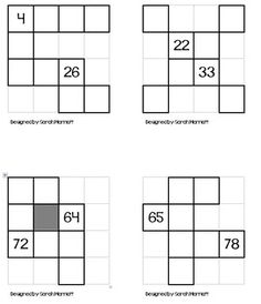 Here's a set of 4 different hundred board puzzles for
