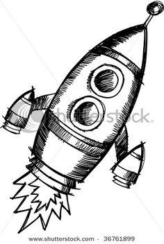 Laika the astronaut dog Tattoo sketch book spaceship