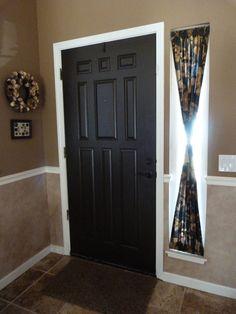 Magnetic Curtain Rod DIY By MRC Entryway Upgrade Front Door