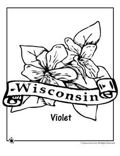 Wisconsin pattern. Use the printable outline for crafts